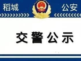 稻城县公安局交通警察大队调整移动测速路段的公示